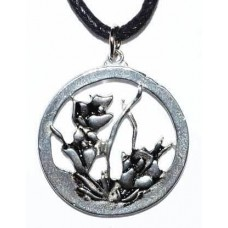 """1"""" Flower in Circle amulet"""